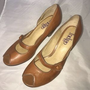 Indigo By Clark  Heeled shoes Leather Brown Size 8